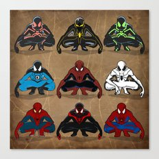 Spider-man - The Year of the Costumes Canvas Print