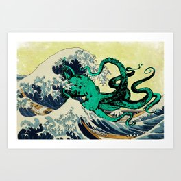 Great Octo-Wave Art Print