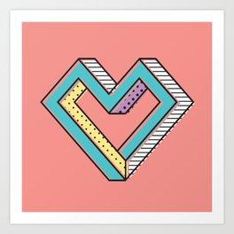 le coeur impossible (nº 2) Art Print