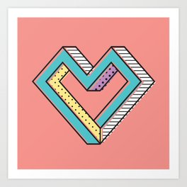 le coeur impossible (nº 2) Art Print