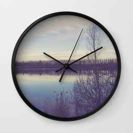 A perspective on the lake Wall Clock