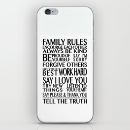 Family Rules 2 iPhone Skin