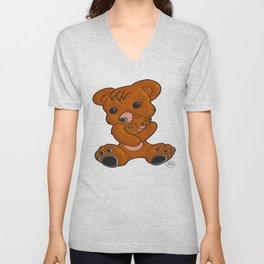 Teddy's Love Unisex V-Neck