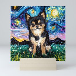 Black and Tan Chihuahua Night Mini Art Print