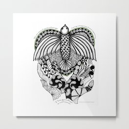 This goodbye is not forever Sympathy  - Zentangle Illustration Metal Print