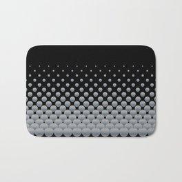 Grey Ball Background Bath Mat