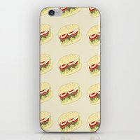 hamburger iPhone & iPod Skins featuring Hamburger by Berta Merlotte