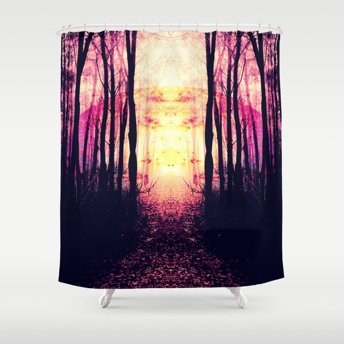 Path To Imagination Mauve Pink Purple Shower Curtain By Vintageby2sweet