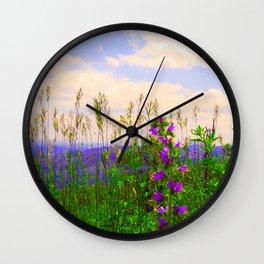 Delphinium Staphisagria Wall Clock