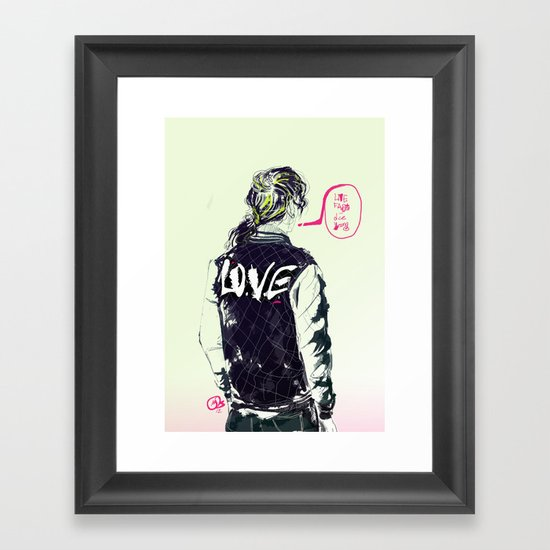 live fast die young Framed Art Print