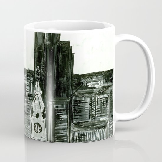 Black and White Philly Skyline Mug