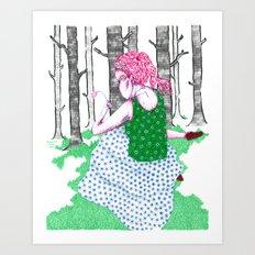 No Jardim Art Print