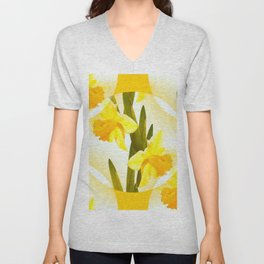 Spring Yellow Flowers #decor #society6 #buyart Unisex V-Neck