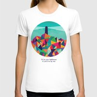 sayings T-shirts featuring I'll be your lighthouse if you'll be my sea by Picomodi
