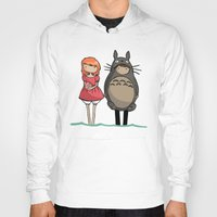 ponyo Hoodies featuring totoro and ponyo by Newspaper Balloon