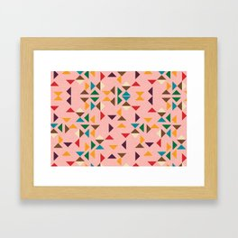 Triangle mod pink Framed Art Print