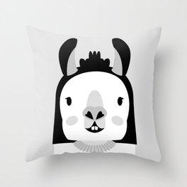 Llara Llama Throw Pillow
