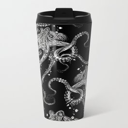Octopus (black) Metal Travel Mug