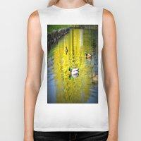 ducks Biker Tanks featuring ducks by  Agostino Lo Coco