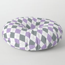 Purple: Argyle Pattern Floor Pillow