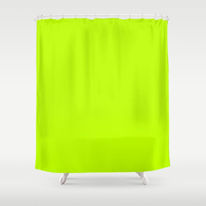 Bitter Lime Neon Green Yellow Shower Curtain By Podartist
