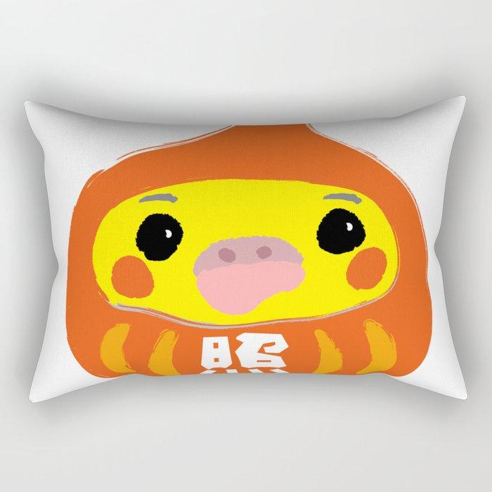 Happy Cockatiel Dharma Doll 2017 Rectangular Pillow