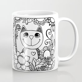 Stripy Cuties - Cat Coffee Mug