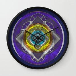Cosmic Eye Stained Glass Mandala Wall Clock