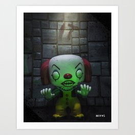 Clown Horror Art Print