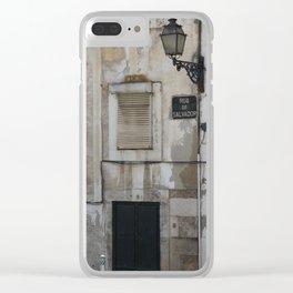 Lisbon Rua de Salvador Clear iPhone Case