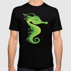 Leafy Sea Dragon Seahorse MEDIUM Black Mens Fitted Tee