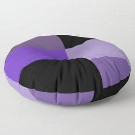Purple Black Squares Floor Pillow