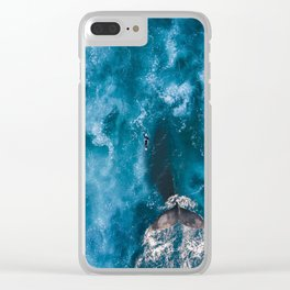 surfing with wale Clear iPhone Case