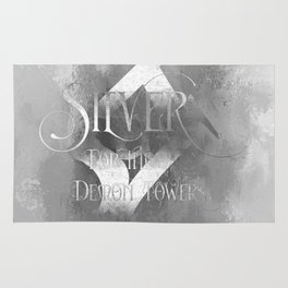 SILVER for the Demon Towers. Shadowhunter Children's Rhyme. Rug
