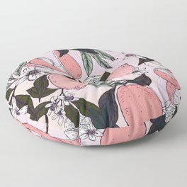 Flowering in the pink oranges Floor Pillow