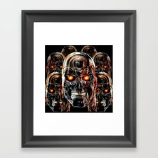Silver Steel Skull Army painting iPhone 4 4s 5 5s 5c, pillow case, mugs and tshirt Framed Art Print