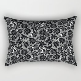 Succulent Monochrome Wall with White Splashes Rectangular Pillow