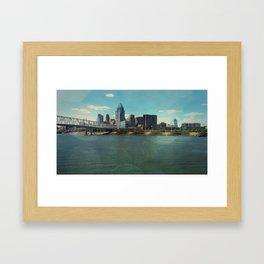 Not A Cincy Skyline Framed Art Print
