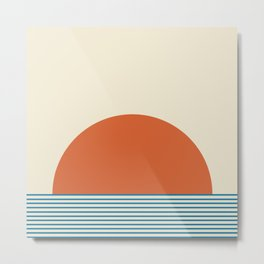 Sunrise / Sunset - Orange & Blue Metal Print