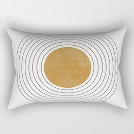 Sunshine Retro Circle Sun Rectangular Pillow