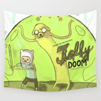 doom Wall Tapestries featuring Jelly Doom Adventure Time by kuri