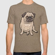 Fat Pug X-LARGE Mens Fitted Tee Tri-Coffee