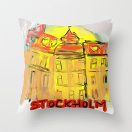 stockholm strand Throw Pillow