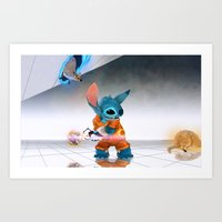 aperture Art Prints featuring Aperture Stitch with Wallaby by Matthew Collins