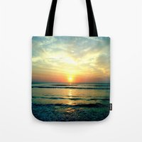 sunrise Tote Bags featuring Sunrise by THEORY
