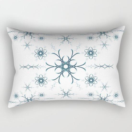 Blue flowers. Pattern. Rectangular Pillow