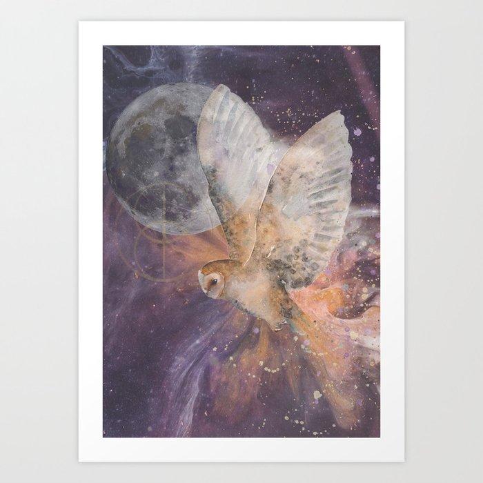 Divine Owl Art Print