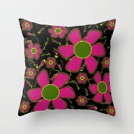 purple impatients Throw Pillow