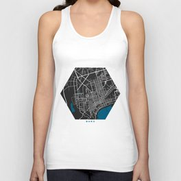 Baku city map black colour Unisex Tank Top