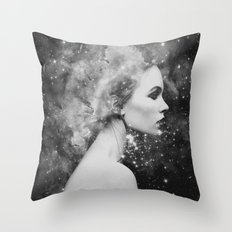 Head in the stars Throw Pillow